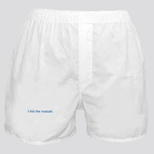 I Hid The Matzah Boxer Shorts