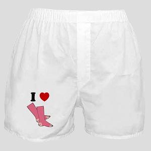 """I Love Pink Socks"" Boxer Shorts"