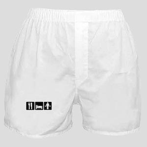 Man Eat Sleep Lift Weights Boxer Shorts