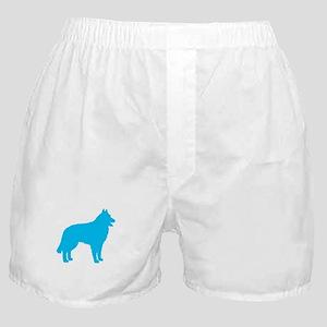 Blue Belgian Sheepdog Boxer Shorts
