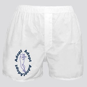 Adopt In Blue Boxer Shorts