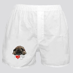 I love pugs Boxer Shorts