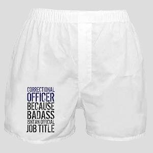 Correctional Officer Badass Job Title Boxer Shorts