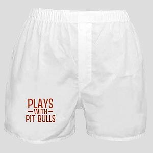 PLAYS Pit Bulls Boxer Shorts