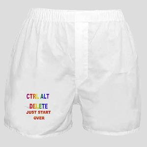 CTRL ALT DELETE JUST START OV Boxer Shorts