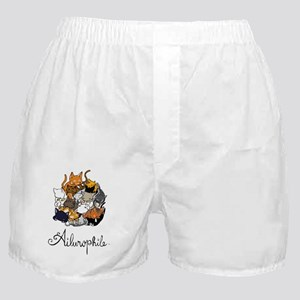 Ailurophile; Cat lover Boxer Shorts