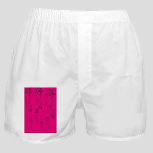 Pink Racer Greyhound Image Boxer Shorts
