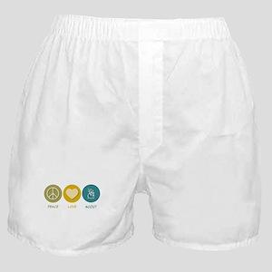 Peace Love Scout Boxer Shorts
