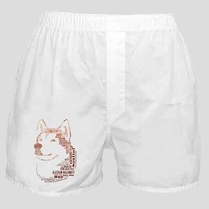 Malamute Words Boxer Shorts