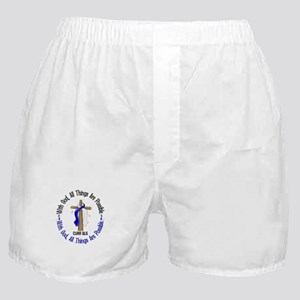 With God Cross ALS Boxer Shorts