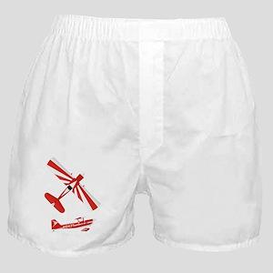 T-Shirt Front on Black Boxer Shorts