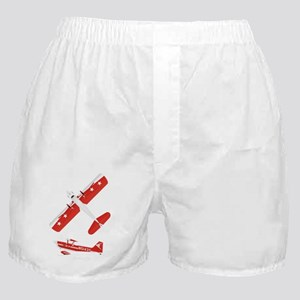 T-Shirt Back on Black Boxer Shorts