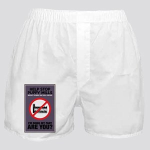 Stop Puppy Mills Boxer Shorts