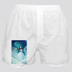 Girl with Moon and Violin Boxer Shorts