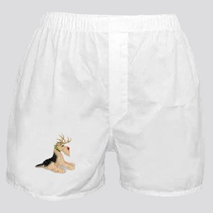 Airedale Christmas Dale Deer Boxer Shorts