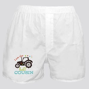 Little Cousin Tractor Boxer Shorts