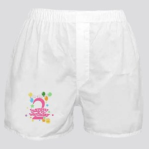 2nd Birthday with Balloons - Pink Boxer Shorts