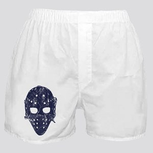 Vintage Hockey Goalie Mask (dark) Boxer Shorts