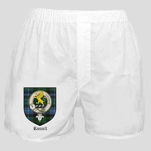Russell Clan Crest Tartan Boxer Shorts