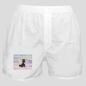 Black Akita Angel Boxer Shorts
