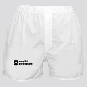 Me Pilot, Me Fly Plane Boxer Shorts