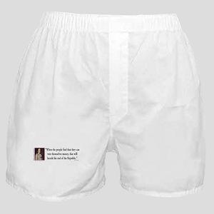 Thomas Jefferson explains Democracy Boxer Shorts