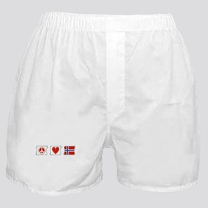 Peace, Love and Norway Boxer Shorts