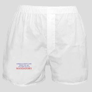 ANTI LIBERAL DEMOCRAT BUMPER Boxer Shorts