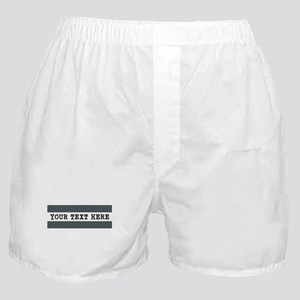 Personalized Gray Striped Boxer Shorts