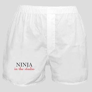 Ninja in the Studio Boxer Shorts