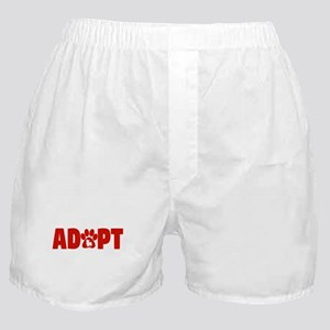 Cute Pets Paw Cat Dog Adopt Red Boxer Shorts