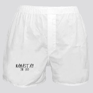 Namast'ay in bed Boxer Shorts