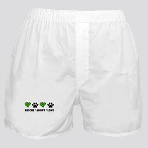Rescue*Adopt*Love Boxer Shorts