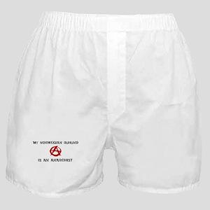 Norwegian Buhund anarchist Boxer Shorts