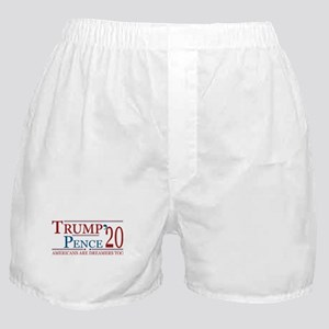 Trump Pence 2020 Americans are Dreame Boxer Shorts