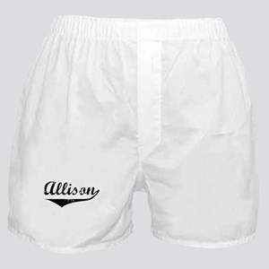 Allison Vintage (Black) Boxer Shorts