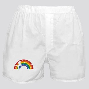 Retro Rainbow Unicorn Boxer Shorts