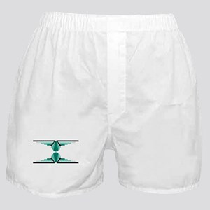 Art deco patterns in aqua Boxer Shorts
