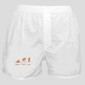 Swim Bike Run (Gold Girl) Boxer Shorts