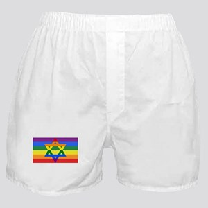 Rainbow Star of David Boxer Shorts