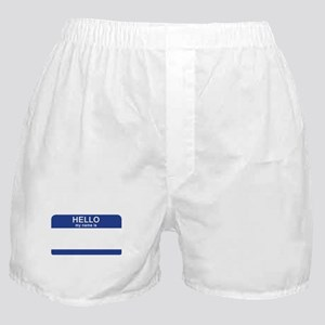 Hello my name is Blank Boxer Shorts