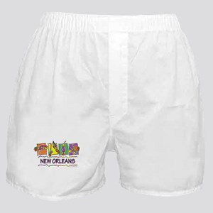 New Orleans Squares Boxer Shorts