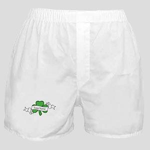 Shamrock CUSTOM TEXT Boxer Shorts