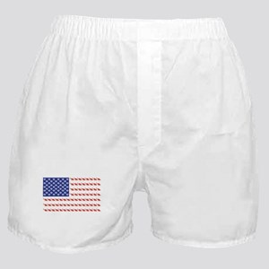 USA Patriotic Cat Flag Boxer Shorts