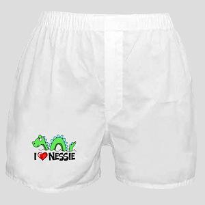 I Love Nessie Boxer Shorts