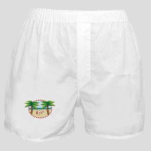 Christmas Stocking Beach Boxer Shorts