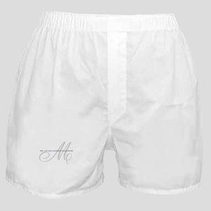 Elegant Name and Monogram Boxer Shorts