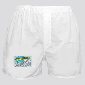 Virginia Map Greetings Boxer Shorts
