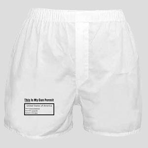 Second Amendment Boxer Shorts