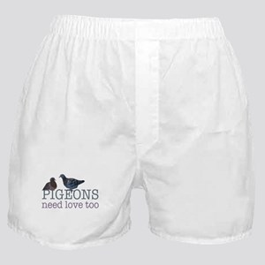 Pigeons need love Boxer Shorts